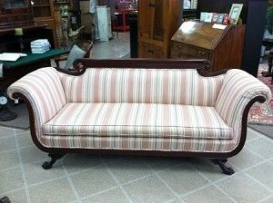 Gorgeous Antique Duncan Phyfe Style Sofa Nicely Carved circa