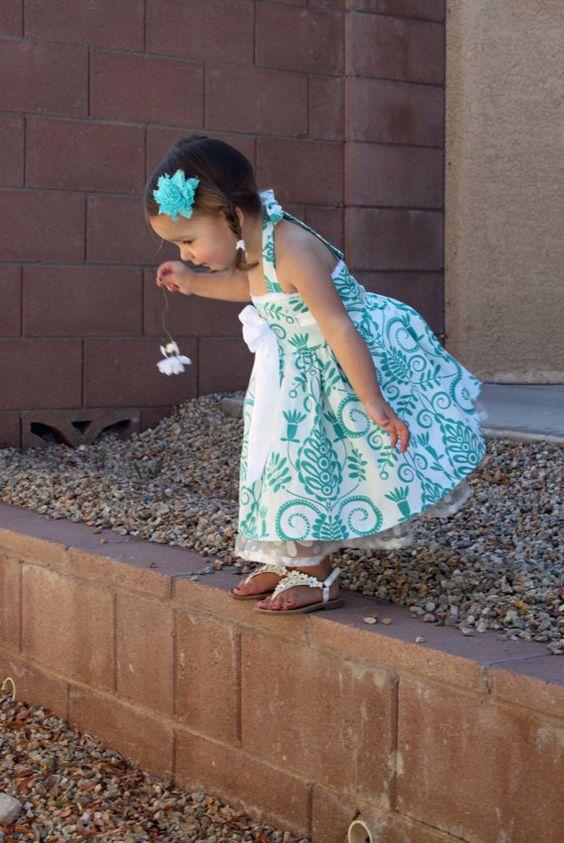 Vestido coser tutorial chica niño PDF ropa por TenderfeetStitches