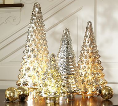 Mercury Glass Trees - we have a lovely version of these in red and in silver at TDU
