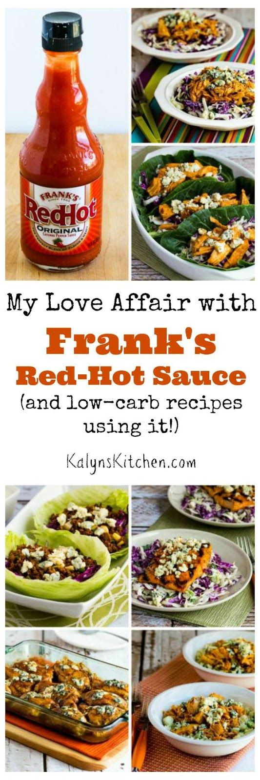Kalyn's Kitchen Picks: Franks Red Hot Sauce (plus Low-Carb Recipes using Frank's Red Hot Sauce)  [found on KalynsKitchen.com]