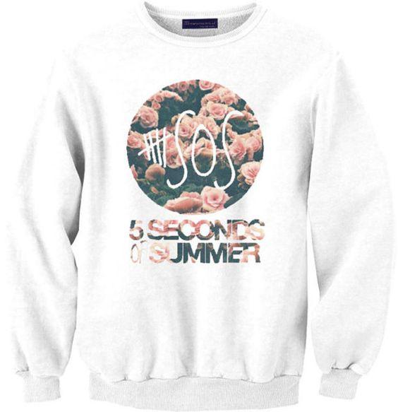 5SOS (5 OPTIONS) sweat sweater Tumblr blanc unisexe  women grey black white sweatshirt tumblr graphic size S M L one direction louis