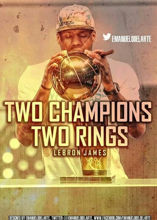 2 Champs 2 Rings LeBron James