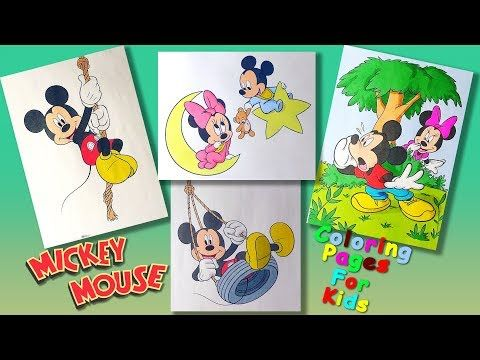Mickey Mouse And His Friends Characters Part 2 Coloringpages Forkids Learncolors And Draw Youtube Friends Characters Mickey Mouse Mickey