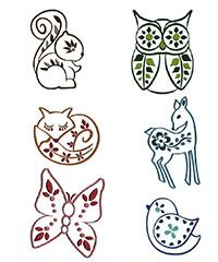 Forest Friends Embroidery Design Collection available at shopsewitall.com is 20% off this month (just enter the code EMBR20 during checkout before Feb. 28th 2014).