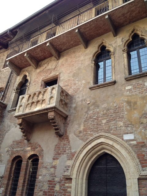 Juliet's balcony in Verona Italy - school trip but lovely as Romeo and Juliet is my fave Shakespeare play