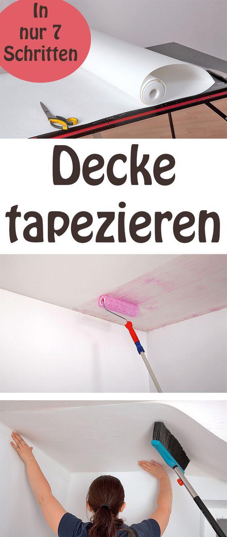 Die besten 25+ Decke tapezieren Ideen auf Pinterest Altbau - decke styroporplatten schnell sauber preiswert