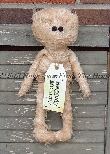 Primitive Halloween Mini Raggedy Mummy Doll by CindysHomespun, $22.00 https://www.etsy.com/listing/150064895/primitive-halloween-mini-raggedy-mummy?ref=sr_gallery_5_search_query=primitive+halloween_view_type=gallery_ship_to=US_page=4_search_type=all_facet=primitive+halloween