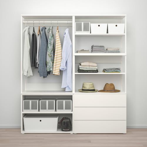 Armadio Ikea 3 Ante.Platsa White Fonnes White Wardrobe With 2 Doors 3 Drawers Width 160 Cm Ikea Nel 2020 Idee Ikea Ikea Armadio Cameretta