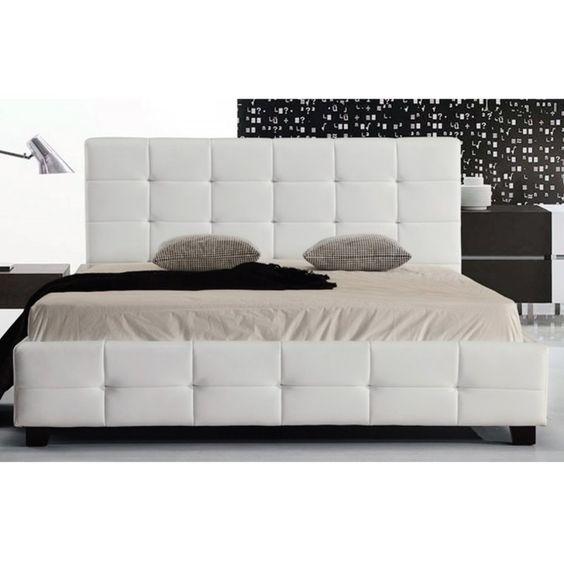 Bed Fidel white PU 160x200 Ε8053,1