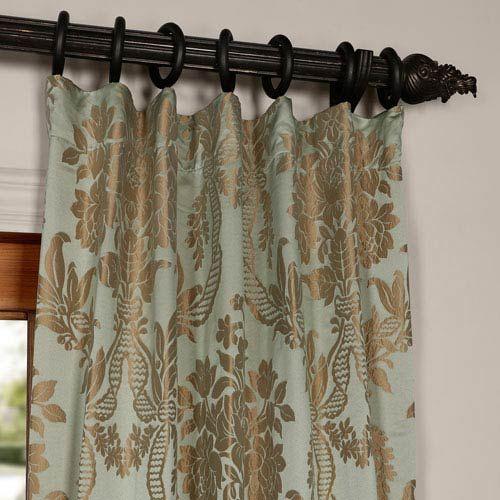 Half Price Drapes Pavillion Ivory 50 X 108 Inch Flocked Curtain Ptfflk C22B  108   Bellacor   Damask curtains, Panel curtains, Half price drapes