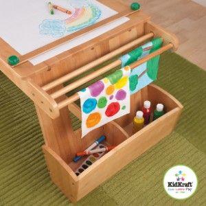 Table de peinture et de bricolage avec espaces de rangement