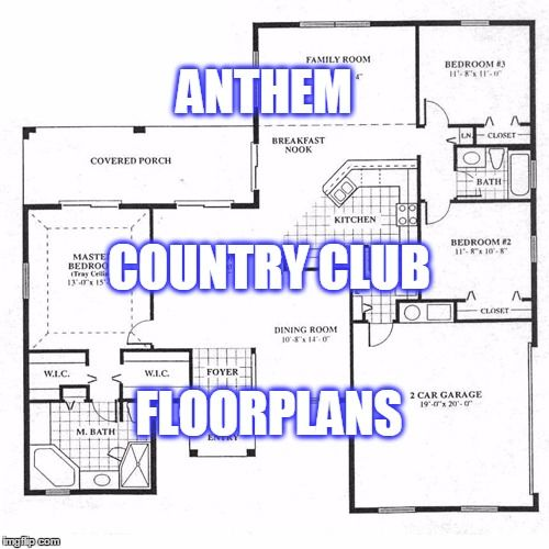 Anthem Country Club Floor Plans In 2020 Floor Plans How To Plan Flooring
