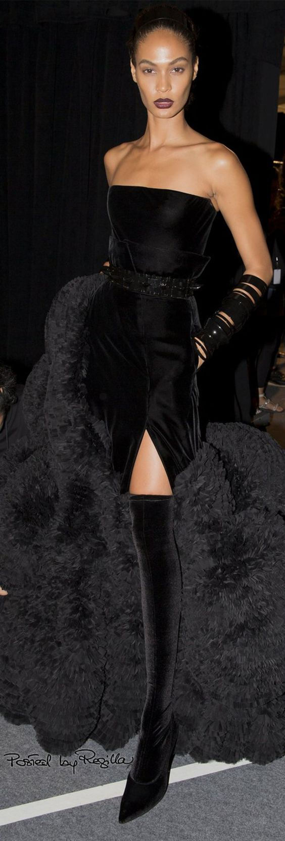 Black long dress by Givenchy, Spring 2016