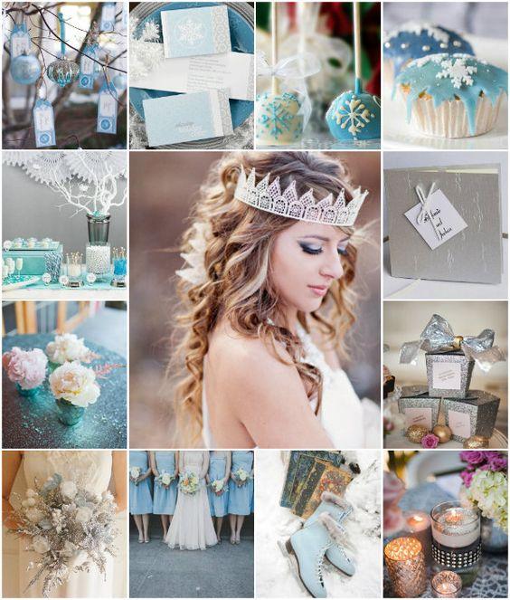 Ice Blau Tiffany Blue golden silber Hochzeit Dekoration Ideen am ...