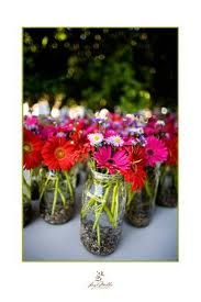 Simple Mason Jar flowers