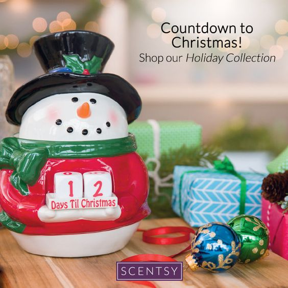 Scentsy Holiday Warmer Snowman Countdown Scentsy Pinterest