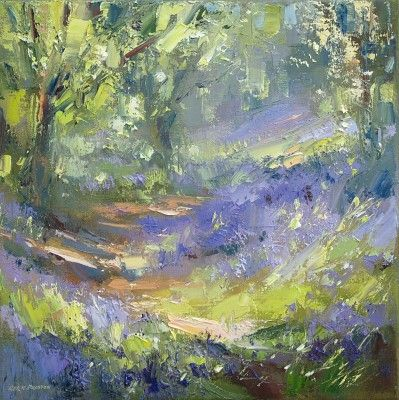 Bluebell Wood by British Contemporary Artist Rex PRESTON