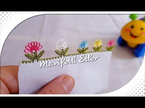 İğne Oyası Dağ Üzeri İki Renk Pırpır Çiçek Modeli Anlatımlı Yapılışı -  YouTube | Örgü, Oya, Çiçek