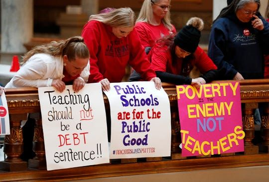 What Is Red For Ed Action Day Here S Why Teachers Are Marching Teaching Schools Teacher Signs Teacher
