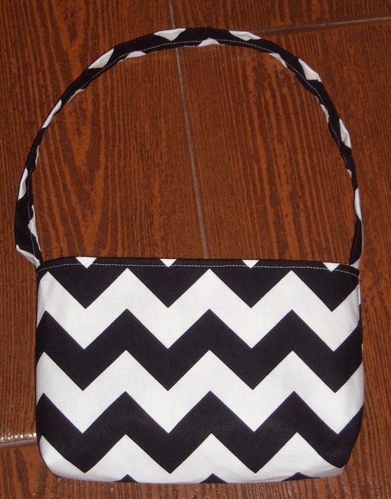 Black Chevron toddler purse - pinned by pin4etsy.com
