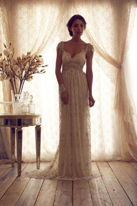 Vintage Wedding Dresses Anna Campbell Wedding Dress Wedding Dresses Wedding Dress Cap Sleeves