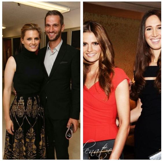 Stana with her brother and sister