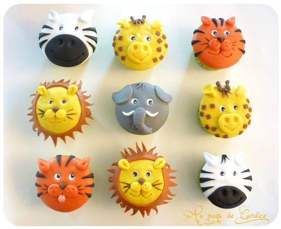 Cupcake Animaux de la savane