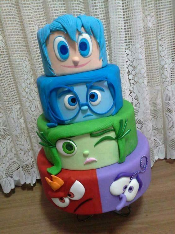 Inside Out Disney Cake  Fun cakes  Pinterest  Inside Out, Disney ...