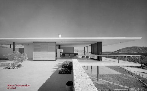 midcentury modern architecture. Lanaras House, Architect: Nicos Valsamakis, 1961-63