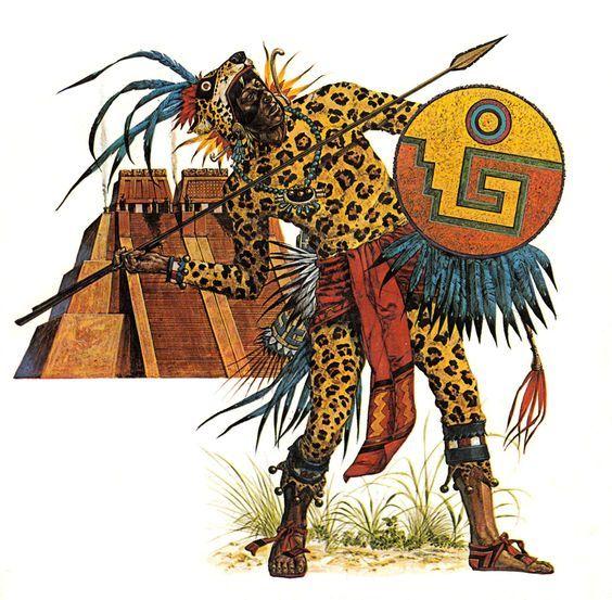 Invencible Guerrero Jaguar Mexica Invencible Aztec Jaguar Warrior Aztec Art Aztec Warrior Ancient Mexico