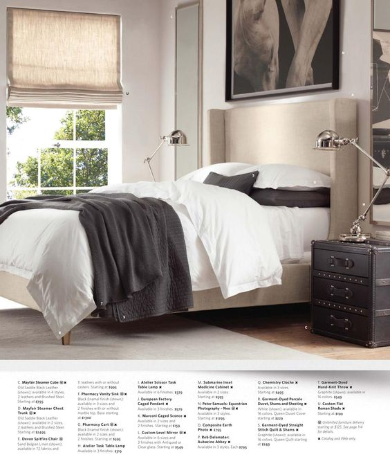 2013 small spaces catalog restoration hardware sleeping quarters pinterest restoration - Small spaces restoration hardware set ...