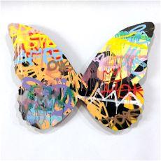 Butterfly graffiti graphic art by italian street artist Kenny Random KR home