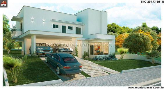 Sobrado - 4 Quartos - 255.73m² - Monte Sua Casa