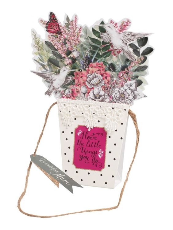 Hanging Pot of Flower's - Mothers Day Card - Mothers Day | Clintons