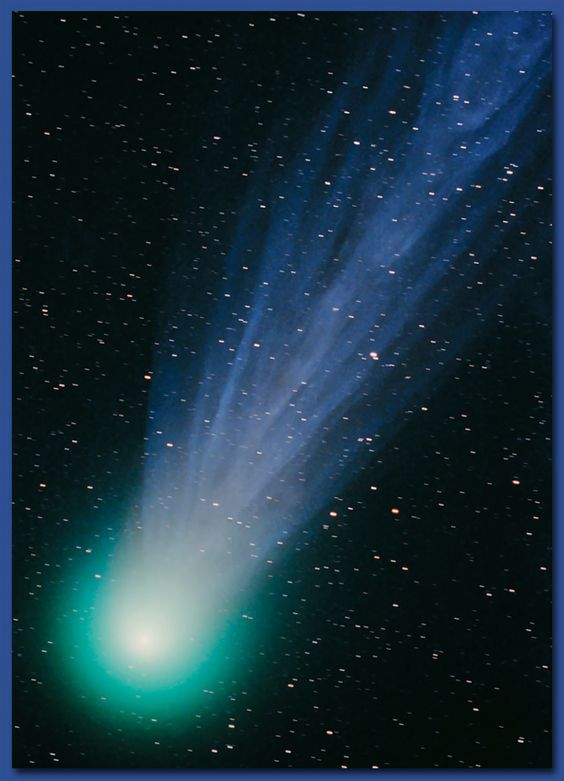 Comet Hyakutake. This spectacular comet was discovered by a Japanese amateur astronomer in 1996