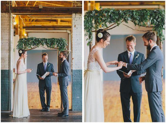 Chatham Mills Warehouse Wedding Pittsboro North Carolina Summer Wedding Vows Rings