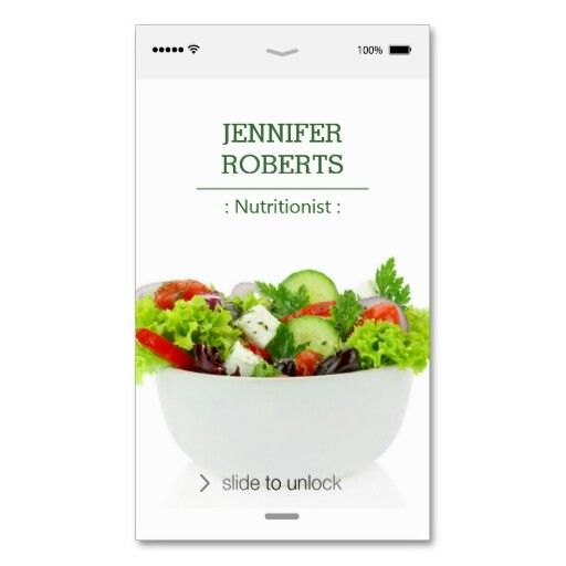 Business card template design for a nutritionist \ dietician by - dietician sample resumes