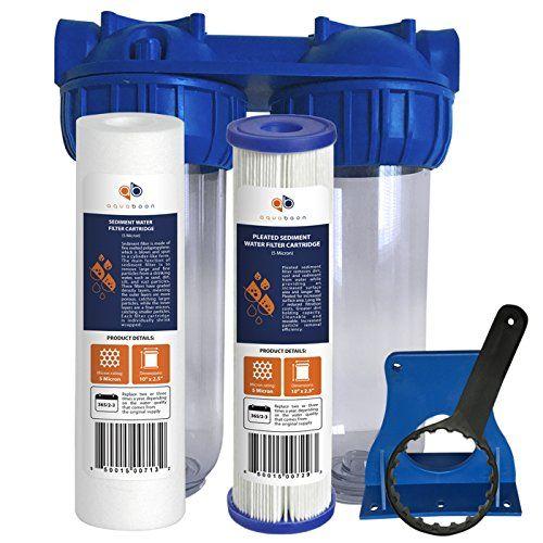 Aquaboon 2 Stage Universal 10 Water Purification System Water Filtration System Water Filtration