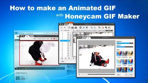 تحميل برنامج صانع الافلام المتحركة Honeycam Gif Maker للكمبيوتر How To Make Animations Video Maker Animated Gif
