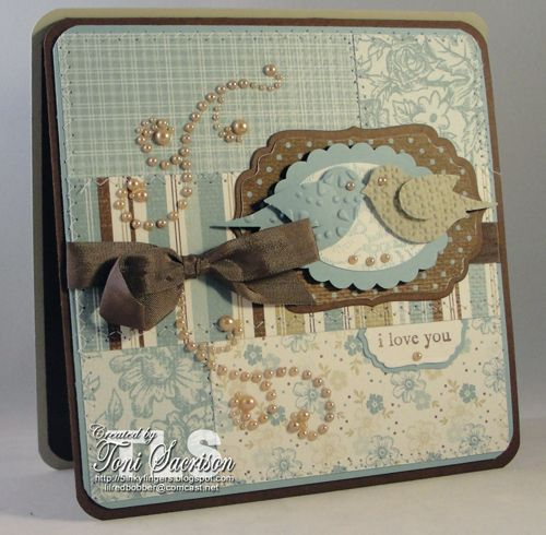 Beautiful card - love the use of frames  and punches!