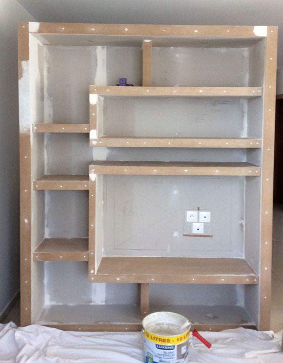 Photo Fabriquer Etagere Contemporaine 2 Meuble De Separation Fabrication Meuble Mobilier De Salon