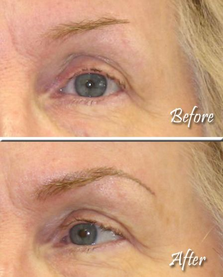 Another example of our feather-stroke eyebrow. This client needed a little fill-in to complete the look.