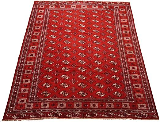 Vintage 11x13 Turkoman Bukhara Red Hand Knotted Wool Area Rug 10 7 X 12 9 In 2020 Wool Area Rugs Rugs Vintage Persian Rug