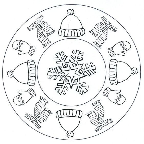 mandala winter hiver pinterest winter mandalas und. Black Bedroom Furniture Sets. Home Design Ideas