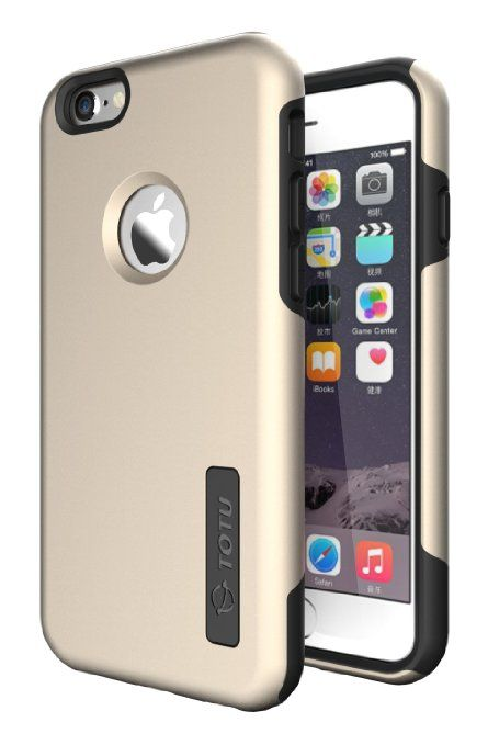 iPhone 6 case'TOTU® Durable Non-Slip With Air Cushion Technology 'Tough Armor Dual Layer Hybrid ⌈Scratch Resistance⌋Ultimate Protection Soft Interior Vibrant Hard Carrying Cover Case for iPhone6 4.7(Gold / Black) #totu #cases See detail at http://zingxoom.com/d/cwHHJ7Zv