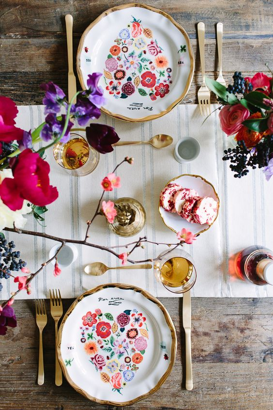 colorful table: