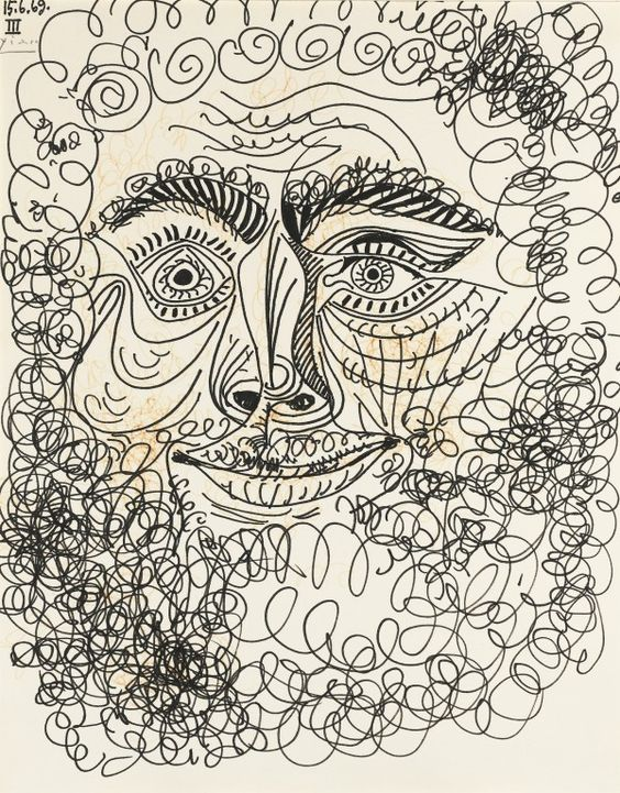 Tête d'homme by Pablo Picasso, 1969