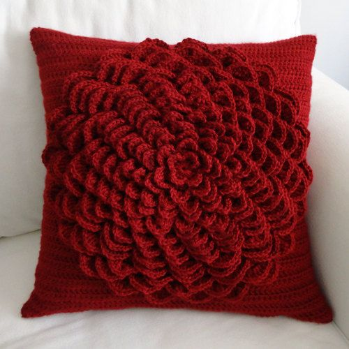 Flower Pillow Cover - PDF Crochet Pattern - Instant Download ...