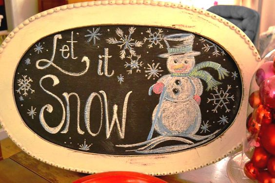 Let it Snow - Snowman Chalkboard