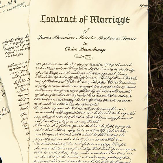 233 best Outlander Wedding images on Pinterest Outlander wedding - wedding contract